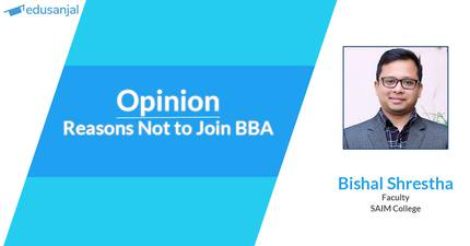 Opinion | Reasons Not to Join BBA