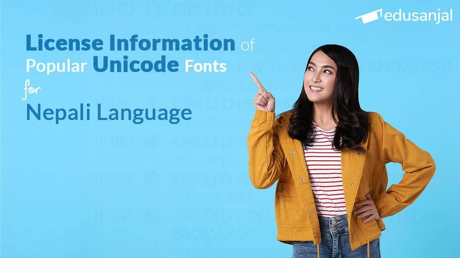 License Information of Popular Unicode Fonts for Nepali Language