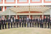 St. Xavier's College students with Father