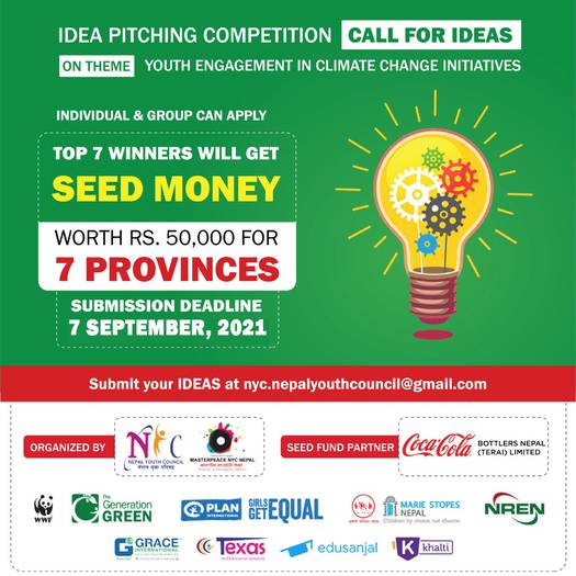 Idea Pitching Competition 2021: Youth Engagement in Climate Action Initiatives