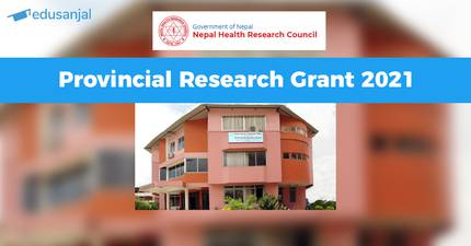 NHRC Provincial Research Grant 2021