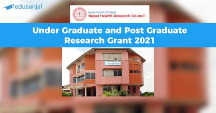 NHRC Under Graduate and Post Graduate Research Grant 2021