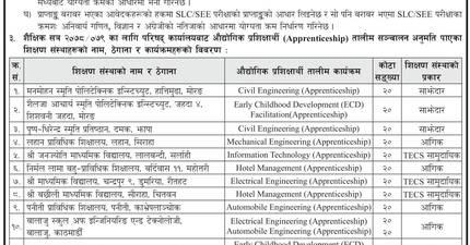 Industrial Apprenticeship Program: CTEVT