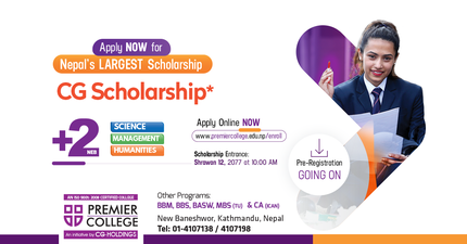 CG Scholarships for Plus Two Programs (Science, Management and Humanities) at Premier College