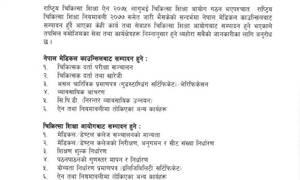 नेपाल मेडिकल काउन्सिलका कार्यक्रम हेरफेर