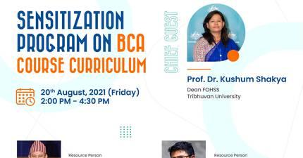 Sensitization Program On BCA Course Curriculum