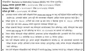 नेपाल नर्सिङ परिषद्ले नामदर्ता प्रमाणपत्र परीक्षा भदौ १९ गते लिने