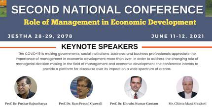 Second National Conference on the 'Role of Management in Economic Development'