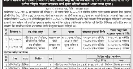 Vacancy for Civil Engineers: Province 1, Public Service Commission