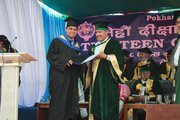 We ensure better future for students, Our student receiving award in Convocation